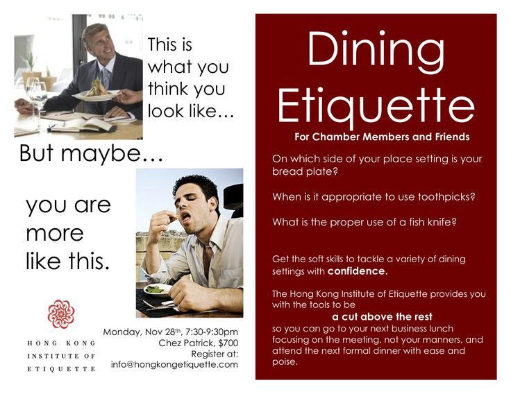 105 best dining etiquette images on pinterest tags for Dining room etiquette