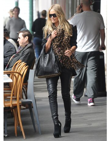 Lara Bingle wears one of our favorite staple winter trends. See her look and others, here: