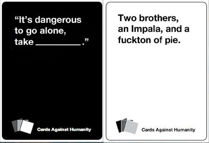 Cards Against Humanity Supernatural Edition --- Awesome! #supernatural