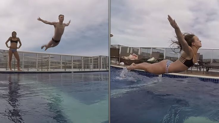Steele Johnson Jessica Parratto Olympic Diving Belly Flops