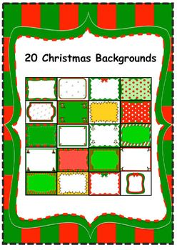 This is a Zip file with 20 Christmas Backgrounds. Please download the preview for thumbnail pics of all the images. These images can be used for personal or commercial use. Credit back to my store is greatly appreciated.http://www.teacherspayteachers.com/Store/Carmela-Fiorino-Vieira