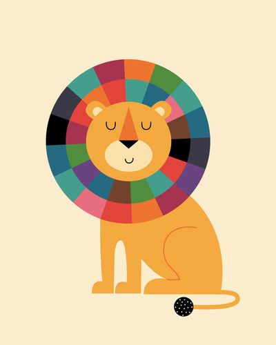 lion, cute, kids, colorful, color