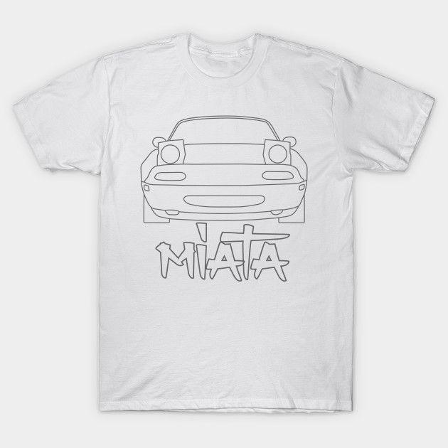 [Cars T-shirt] Mazda MX-5 / Miata NA Simple Vectorized Design