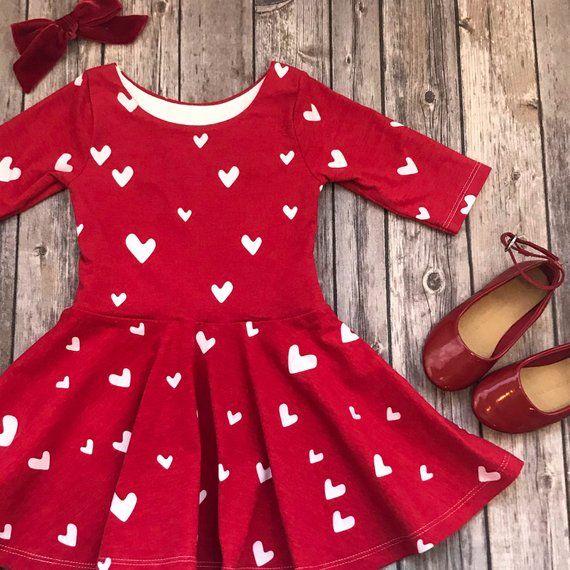 1157495d418e Red Heart Dress - Heart Dress - Valentine Dress - Valentine's Day Dress - Toddler  Dress - Little Girl Dress - Twirl Dress - Twirly Dress