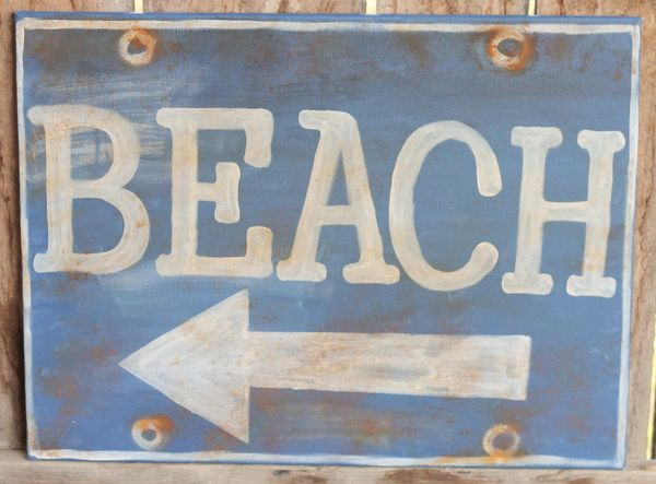 DIY Rustic Beach Sign Knock Off from Ballard Designs