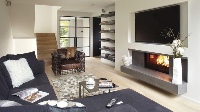 Un séjour inspiré des habitations scandinaves | Photo: Yves Lefebvre #salon #sejour #deco #foyer