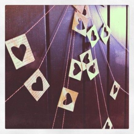 The simplest DIY garland. For Valentine's Day or any day. Click for 20 DIY Valentine's Day Decor Ideas.