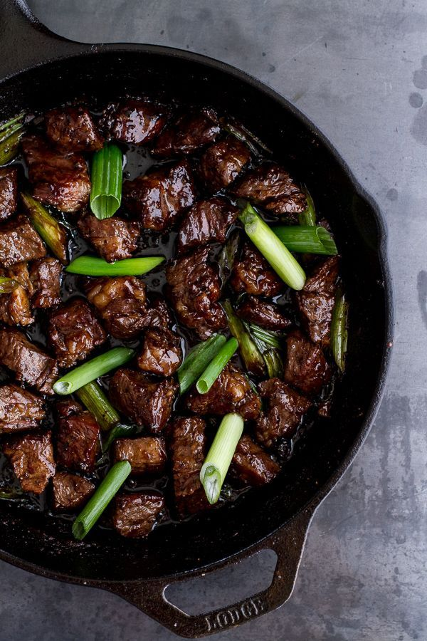 Vietnamese Shaken Beef Bowl – The slightly sweet Hoisin sauce adds a whole dynamic to this savory dish. Served best with vegetables​ and/or rice // via Half Baked Harvest