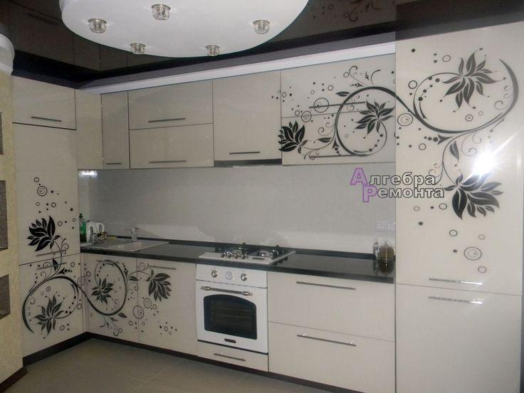 Кухни с рисунком фото