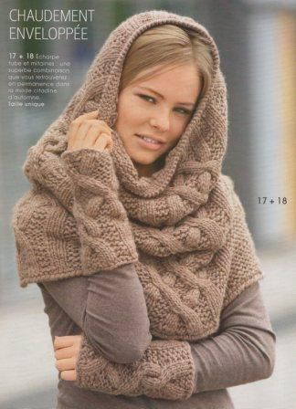 patron mitaines tube tricot