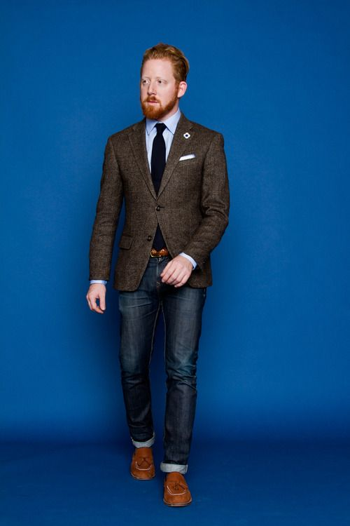Mens Brown Tweed Blazer
