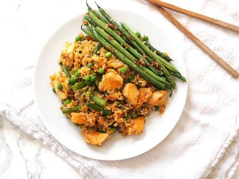 Chicken Fried Rice With Springtime Asparagus