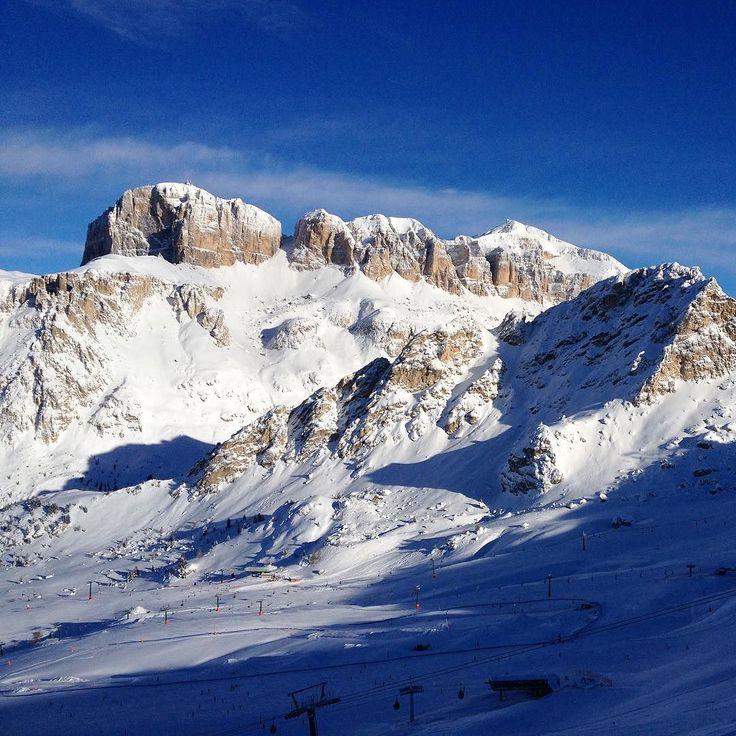 Canazei - Belvedere ski area. Sass Pordoi and Sass Bece in the background Dolomiti ski tour #dolomiti #dolomites #turismo #tourism #italia #Mountain #snow #winter #ski #italy #sellaronda #skitour #montagne #skisafari #skiguide #powder #snowboard #valbadia #valdifassa #valgardena #canazei #trentino #instatrentino #ig_italia_ http://ift.tt/1sbHTFk #worldheritage #unesco #belvedere #pordoi #onepictureadaydolomiti2016 @dolomitimountain #onepictureadayfrancesco Foto Copyright @francesco_eri…