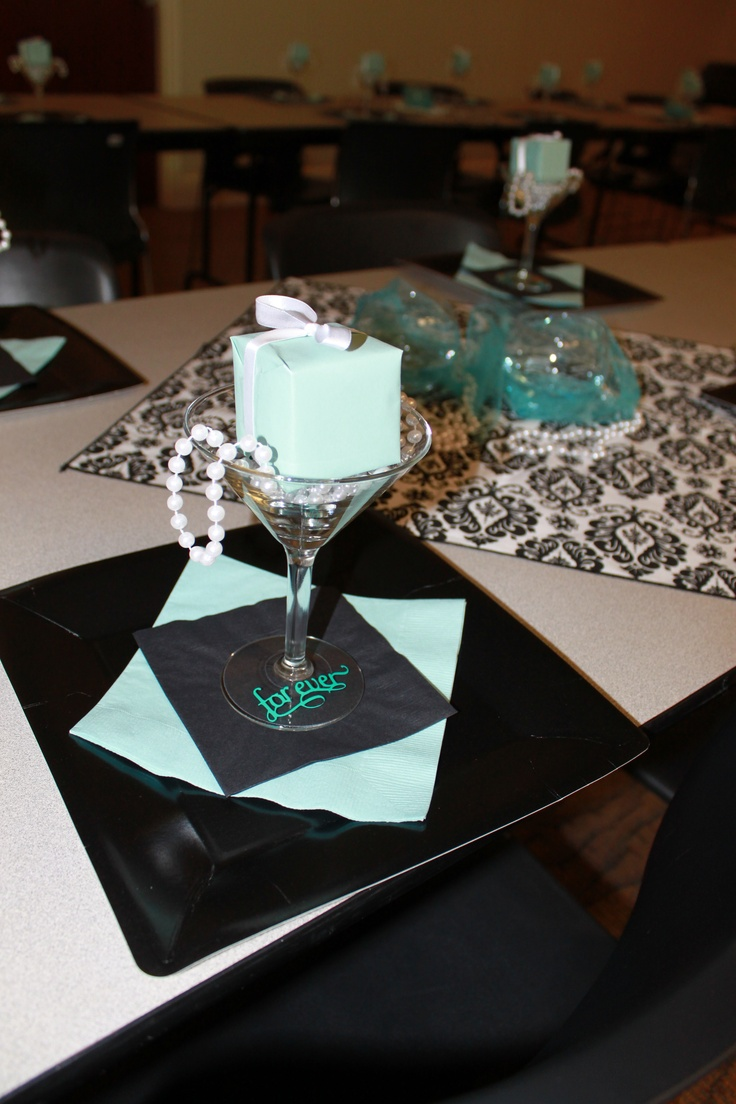 ... setting for Breakfast at Tiffanys Bridal Shower for my sister in law