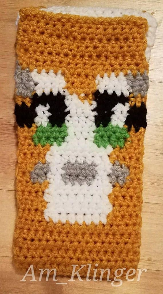Stampy Cat Minecraft Crochet Scarf Pattern