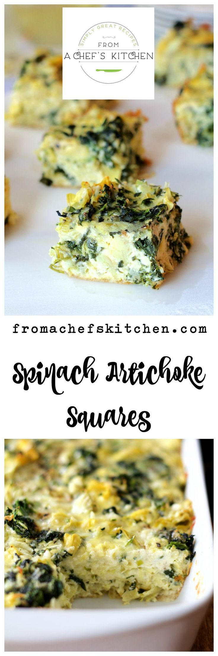 This busy holiday season, you need easy and delicious!  My Spinach - Artichoke Squares deliver on both!