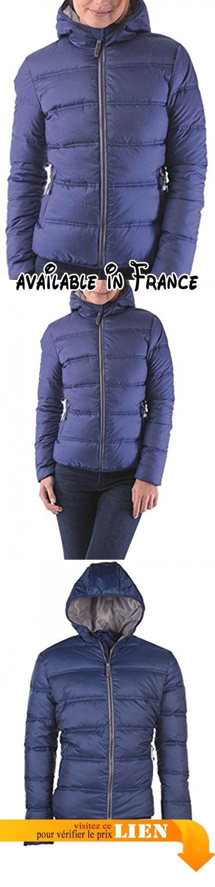 B073VJV8R2 : Fashion cuir - Blouson doudoune capuche Couleur - bleu foncé Taille Femme - 38.