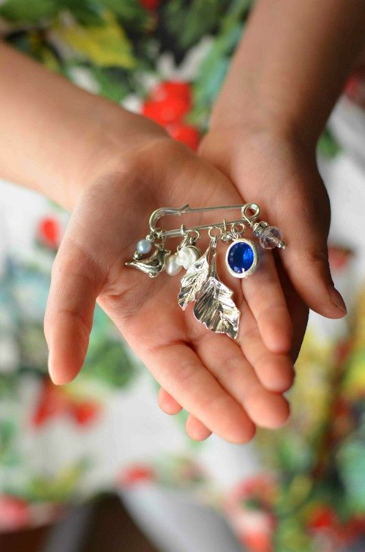 Bridal bouquet charms. Something blue idea.