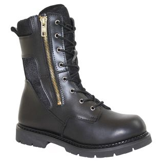 Size 13 @Overstock.com.com - AdTec Mens' Black Swat Boots - These AdTec boots feature tactical styling with side zippers and full front lace ups. These leather boots are extremely durable thanks to cement construction and leather uppers.  http://www.overstock.com/Clothing-Shoes/AdTec-Mens-Black-Swat-Boots/7472093/product.html?CID=214117 $75.99