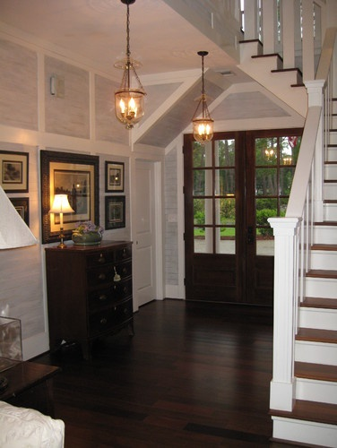 Brazilian Walnut Flooring - particularly with the white trim