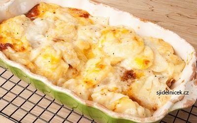 Dietní zapečené brambory s kuřecím masem - recept