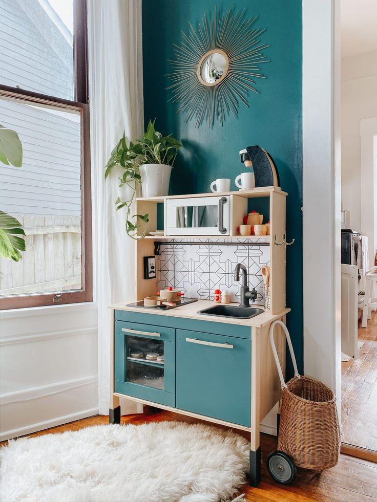 IKEA play kitchen hack + favorite pretend kitchen