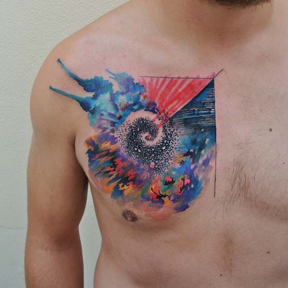 Ondrej Konupcik's Unique Tattoo Style Imitates Watercolor Brush Strokes That Come Alive On Your Skin