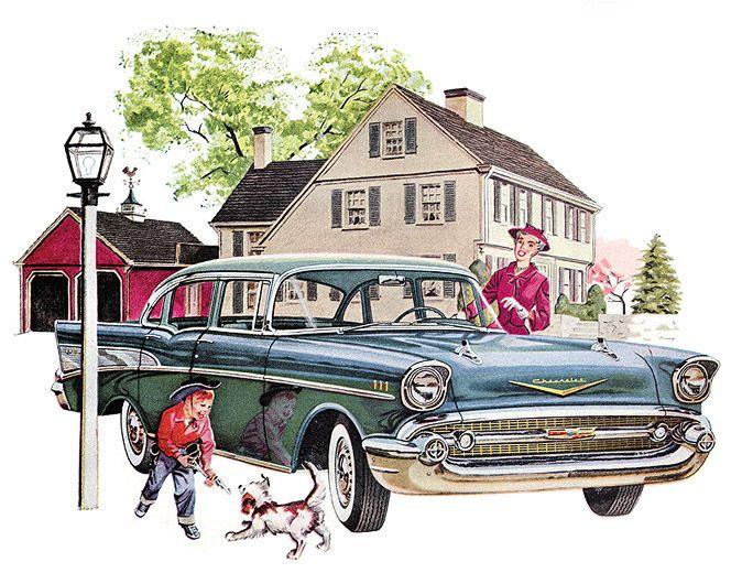 Plan59 :: Classic Car Art :: 1957 Chevrolet