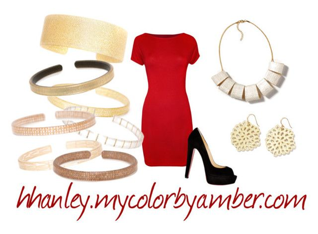 """""""Color by Amber 17"""" by hhanley-colorbyamber on Polyvore featuring WearAll, Christian Louboutin and Coffee Shop"""