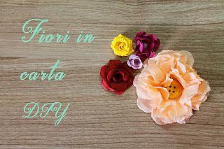 Fiori in carta DIY #fiori #flower #flour #carta #papel #paper #papier #rosso #rojo #red #rouge #giallo #amarillo #yellow #viola #pourple #rosa #pink