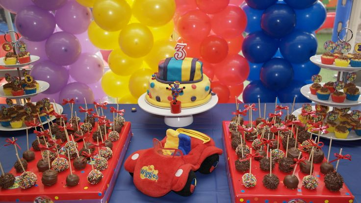 Wiggles party I made this party to celebrate 3 years of my son..