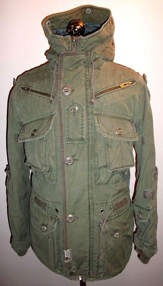 G Star Raw Parka Coat Medium Green Hooded Military Jacket Overcoat Sniper Caban Fashion Clothing Shoes Accessor Military Jacket Military Outfit Parka Coat