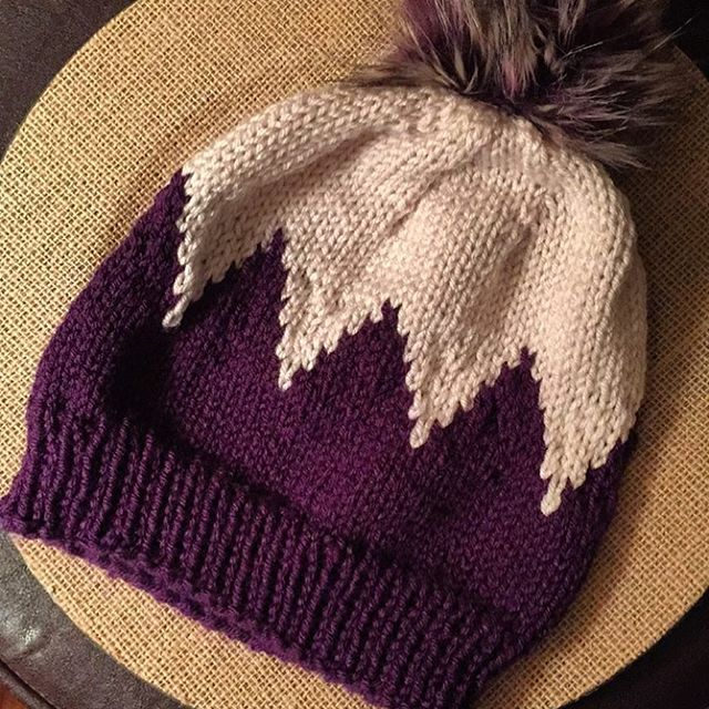 Just enough purple yarn to make another zigzag hat!