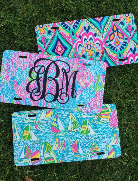 Lilly Pulitzer Inspired License Plate by LillySouthern on Etsy