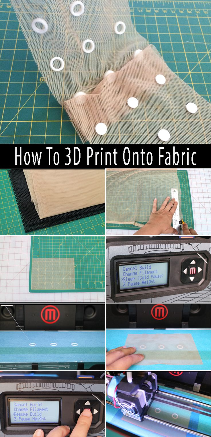Combine 3D printed designs with fabric to create exciting new textiles. Learn how to print on three different kinds of fabric: power mesh, heat-sealable nylon, and cotton/poly broadcloth.