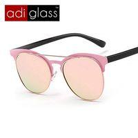 Adiglass marca nueva moda del Metal del ojo de gato gafas polarizadas estrella Vintage Sunglasses mujeres hombres recubrimiento sunglass gafas de sol