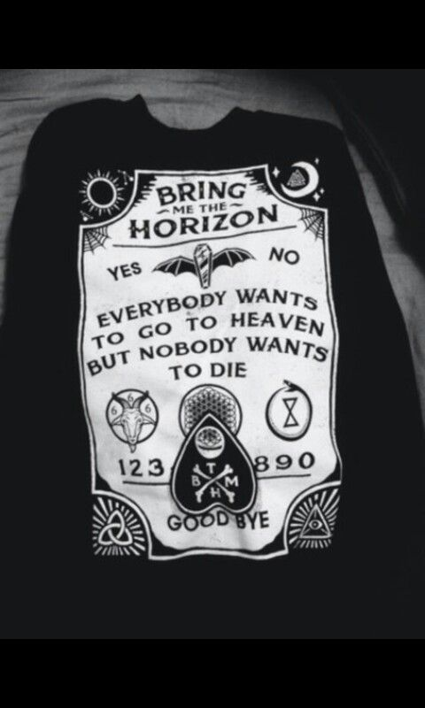 First merch shirt I ever purchased, Bring Me The Horizon crewneck.