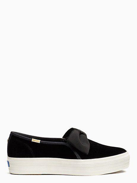 c7ff8fb9d2d5 Keds X Kate Spade New York Triple Decker Velvet Bow Sneakers