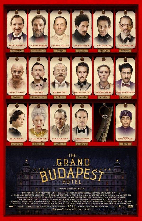 The Grand Budapest Hotel de Wes Anderson (2014 mars)   Ce film est beau à regarder, c'est sûr ! ;-)