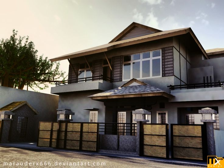 Asian style architecture japanese style exterior for Home front design photo