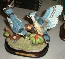 Wellington Collection Blue Jay Bird Porcelain Hand Painted