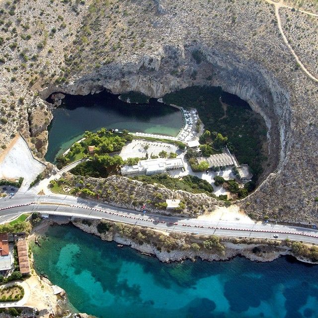 Vouliagmeni lake, Athens Riviera, Greece