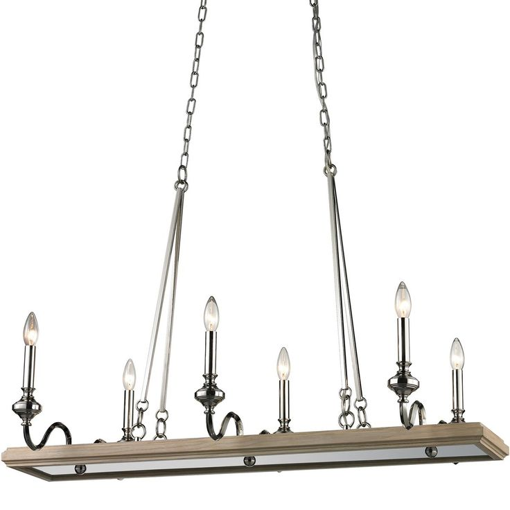 Natural shell necklace chandelier 3 lt wood tray for Natural wood chandelier