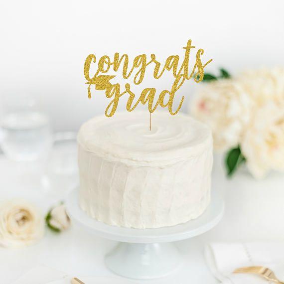 Congrats Grad Cake Topper  Congrats Grad  Graduation Party