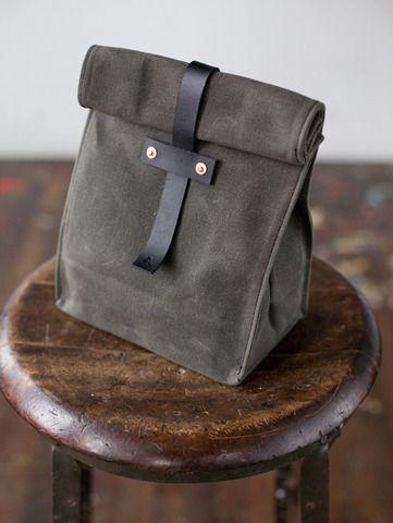 handmade canvas lunch bag.