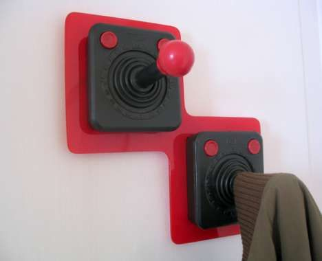 67 Geeky Gamer Furnishings - From 8-Bit Couch Cushions to Joy Stick Coat Hooks