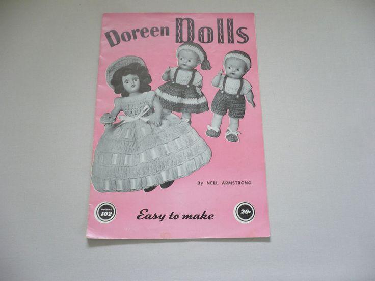 1951 DOREEN DOLLS Book - Original Price was 20¢ #DoreenKnittingBooks