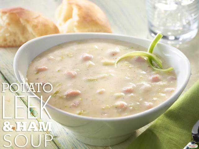 Potato, Leek and Ham Soup #hormelfoods #recipe