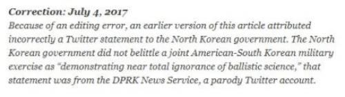 NYTimes Mistakenly Cites Tweet From North Korea Parody Account http://betiforexcom.livejournal.com/26029278.html  Management at the New York Times is planning to lay off half of the copy editors on staff – a decision that provoked a walkout at the NYT's Times Square headquarters last week. But after an embarrassing editing error risked starting World War III, we're thinking they might want to reconsider – at least until tensions cool between the US and North Korea.As the Washington Free…