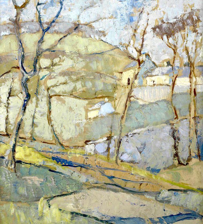 ANNE REDPATH,  (British, 1895-1965)  Border Landscape